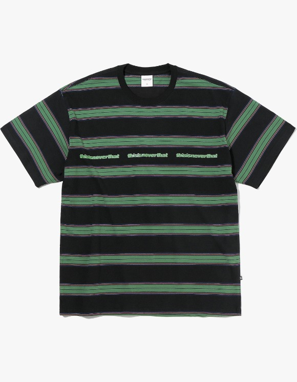 thisisneverthat 3ESP Logo Striped Tee - Black | HEIGHTS. | International Store