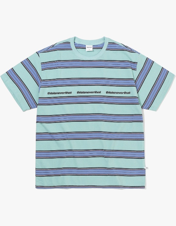 thisisneverthat 3ESP Logo Striped Tee - Ice Blue | HEIGHTS. | International Store