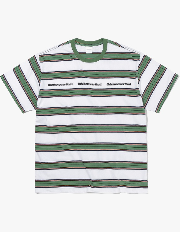 thisisneverthat 3ESP Logo Striped Tee - White | HEIGHTS. | International Store