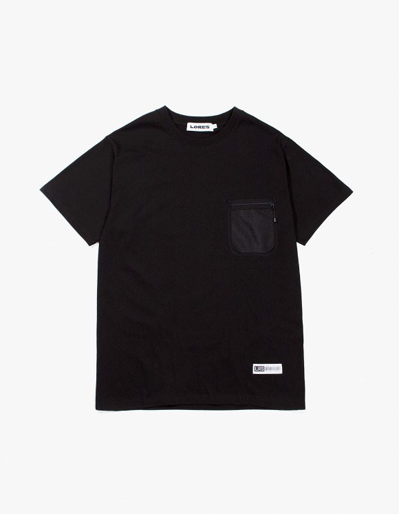 Lores Mesh Pocket S/S T-Shirts - Black | HEIGHTS. | International Store
