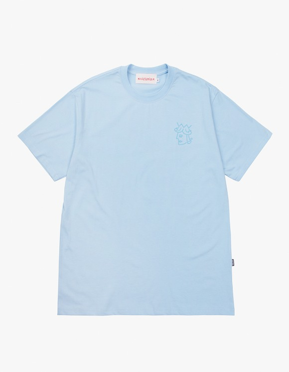 Victoria Hong Kong Queenhead S/S Classic Tee - Blue | HEIGHTS. | International Store