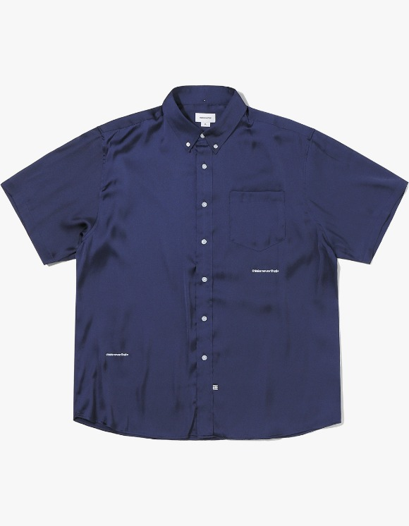 thisisneverthat TR Satin S/SL Shirt - Navy | HEIGHTS. | International Store