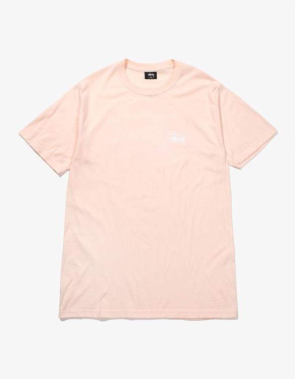 Stussy Basic Stussy Tee - Pale Pink | HEIGHTS. | International Store
