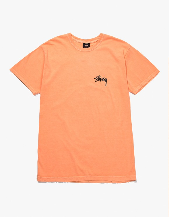 Stussy 8 Ball Pig.Dyed Tee - Coral | HEIGHTS. | International Store