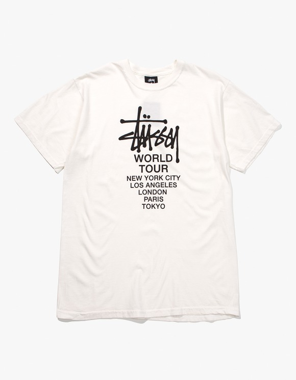 Stussy Tour Pig. Dyed Tee - Natural | HEIGHTS. | International Store