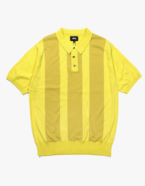 Stussy Miles Polo Sweater - Lemon | HEIGHTS. | International Store