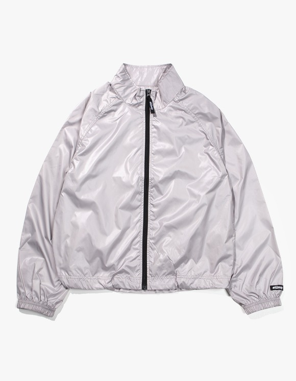 Stussy Langley Shiny Zip Jacket - Grey | HEIGHTS. | International Store