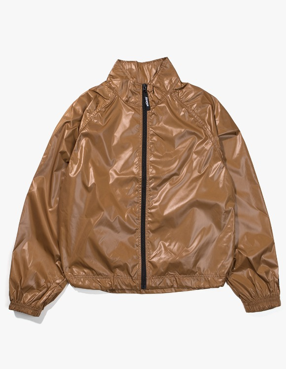 Stussy Langley Shiny Zip Jacket - Tan | HEIGHTS. | International Store