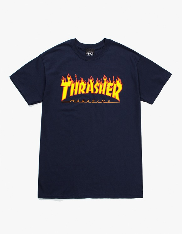 Thrasher Flame S/S Tee - Navy | HEIGHTS. | International Store