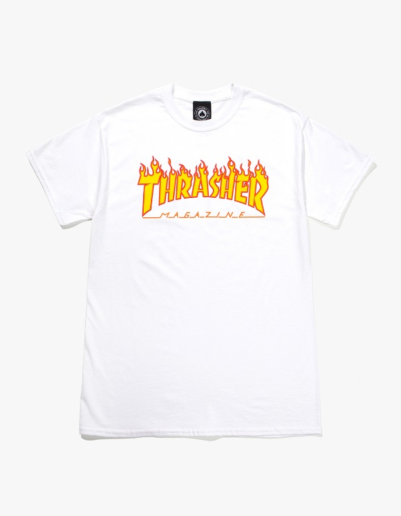 Thrasher Flame S/S Tee - White | HEIGHTS. | International Store