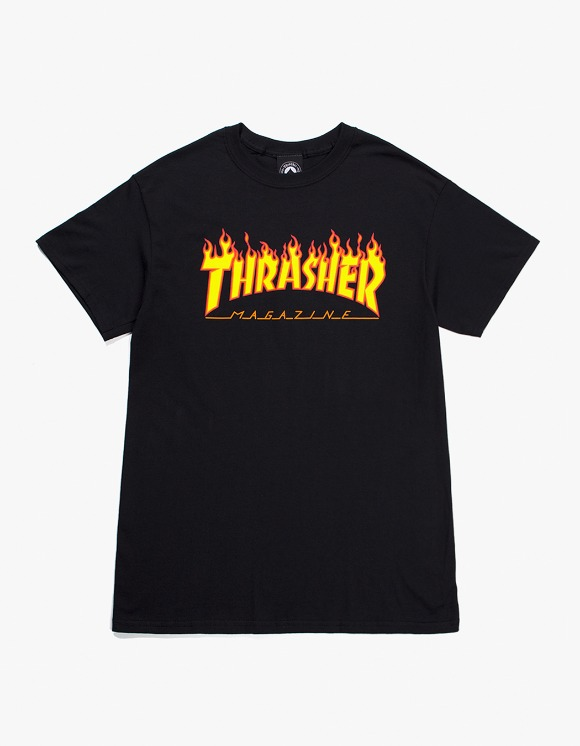Thrasher Flame S/S Tee - Black | HEIGHTS. | International Store
