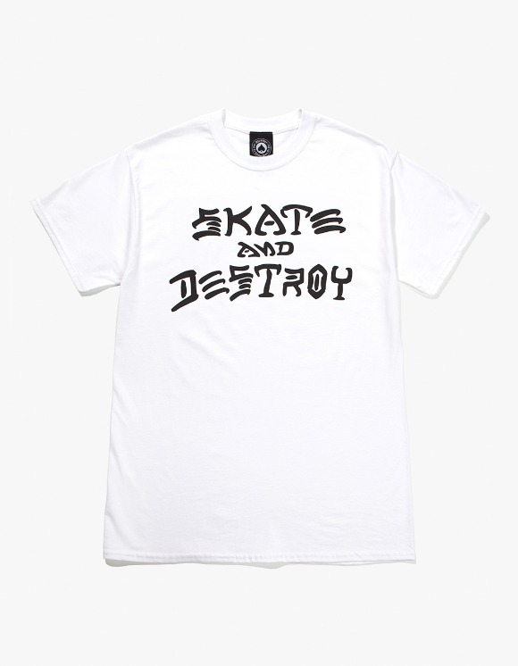 Thrasher Skate And Destroy S/S Tee - White | HEIGHTS. | International Store