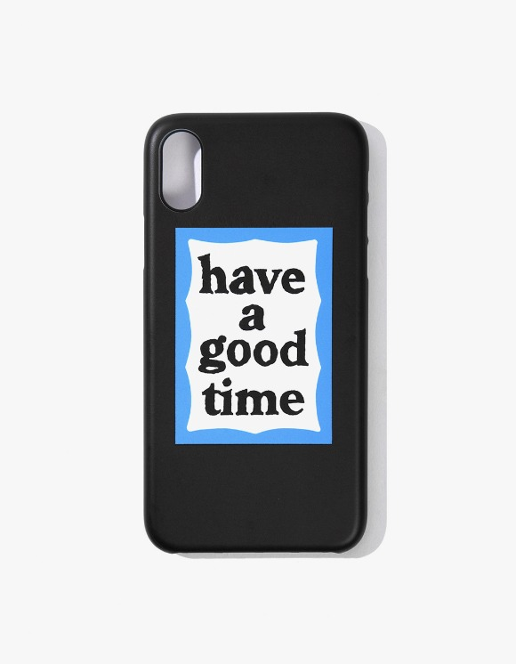 have a good time Blue Frame iPhone Case X/XS - Black | HEIGHTS. | International Store