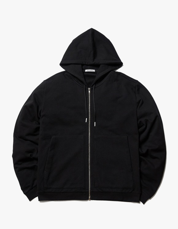 AECA WHITE Finest Cotton Zip-up Hoodie - Black | HEIGHTS. | International Store