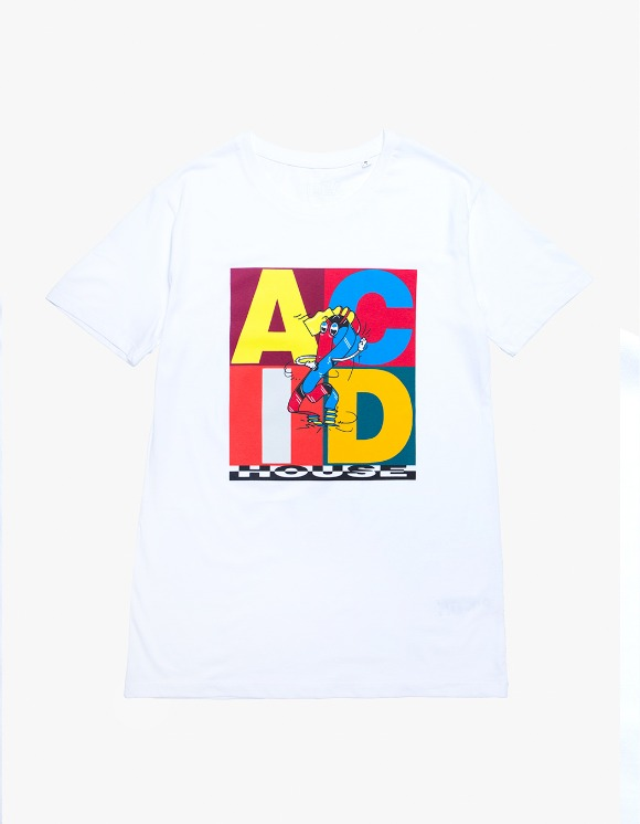 IDEA Yves Uro ACID House S/S Tee - White | HEIGHTS. | International Store