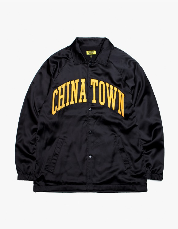 Chinatown Market Satin Coach Jacket - BlacK | HEIGHTS. | International Store