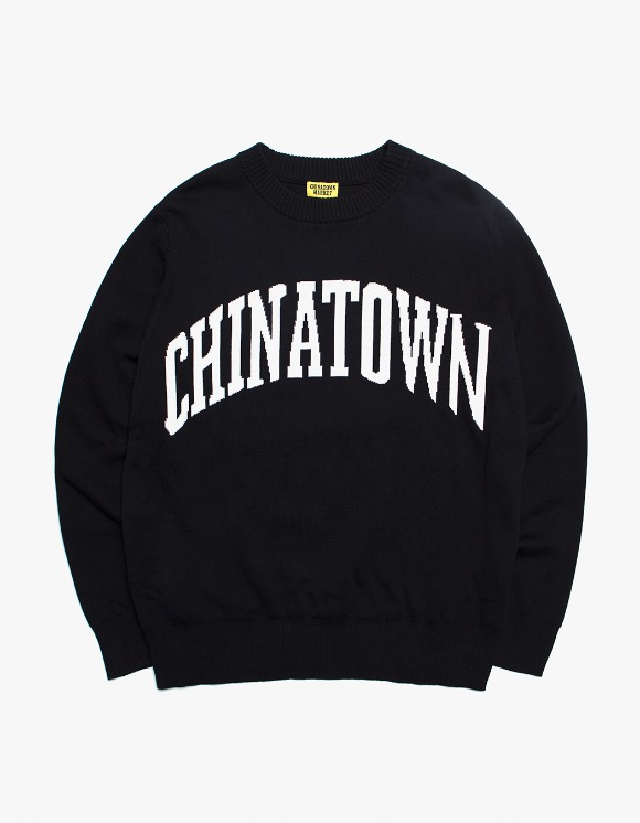 Chinatown Market Arch Jacquard Knit Sweater - Black | HEIGHTS. | International Store