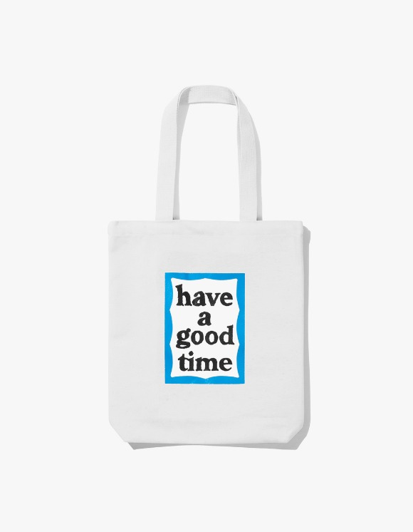have a good time Blue Frame Tote Bag - White | HEIGHTS. | International Store