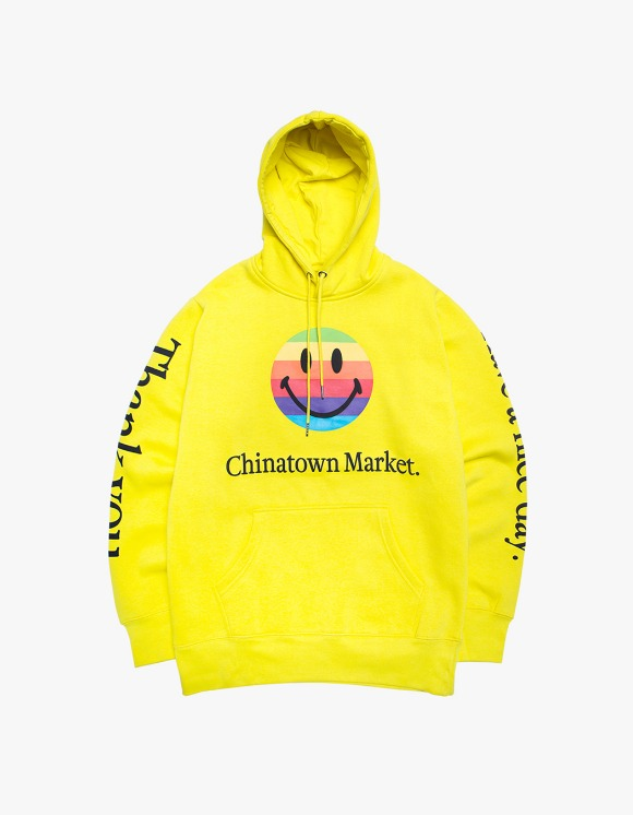 Chinatown Market Smiley Apple Hoodie - Yellow | HEIGHTS. | International Store