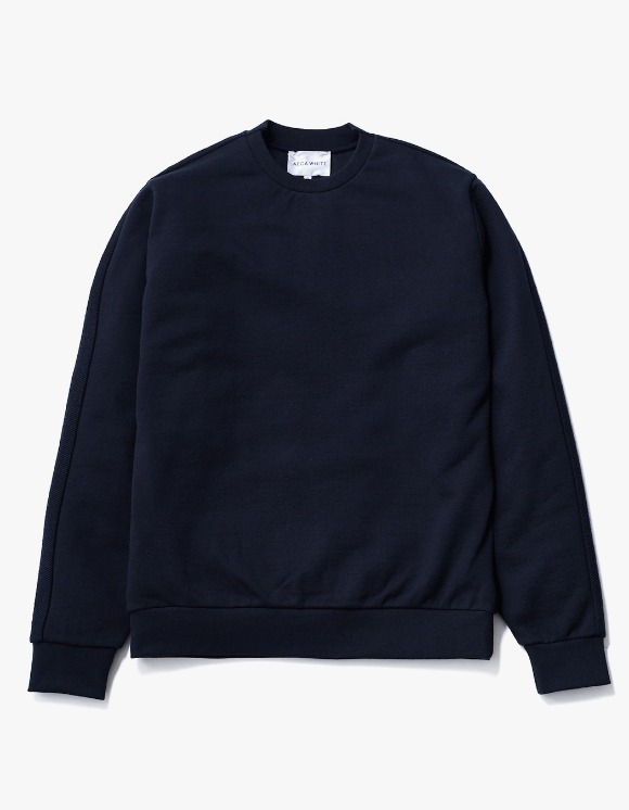 AECA WHITE Blake Patch Sweat - Deep Navy | HEIGHTS. | International Store