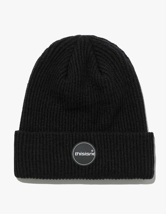 thisisneverthat Rubber C-Logo Short beanie - Black | HEIGHTS. | International Store