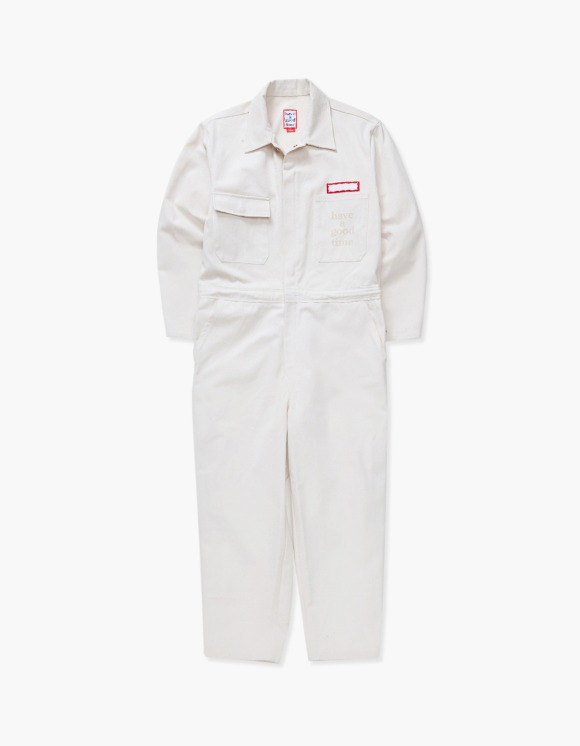 have a good time Logo Coveralls - White | HEIGHTS. | International Store