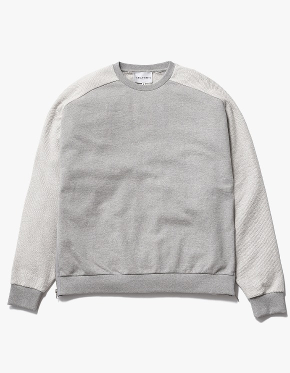AECA WHITE Suite Double Zip Sweat - Grey | HEIGHTS. | International Store