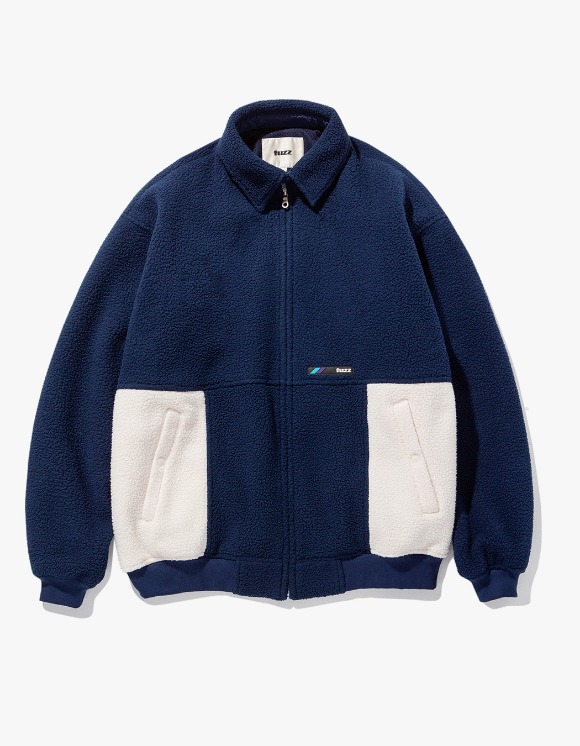 Fuzz FUZZ FLEECE HARRINGTON JACKET navy | HEIGHTS. | International Store