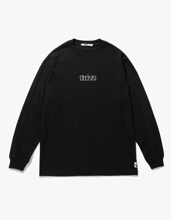 Fuzz FUZZ EMBO L/S TEE pale vanilla - Black | HEIGHTS. | International Store