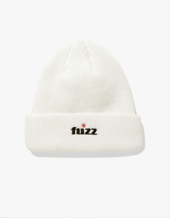 Fuzz FUZZ R LOGO BEANIE white | HEIGHTS. | International Store