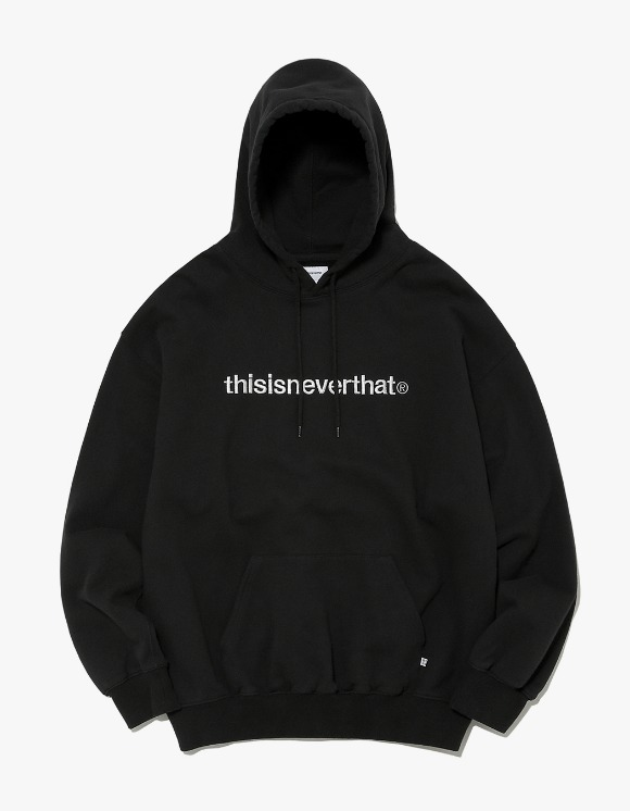 thisisneverthat T-Logo Hooded Sweatshirt - Black | HEIGHTS. | International Store