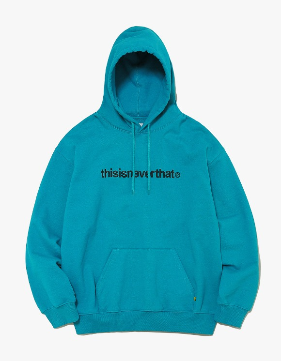 thisisneverthat T-Logo Hooded Sweatshirt - Blue Green | HEIGHTS. | International Store