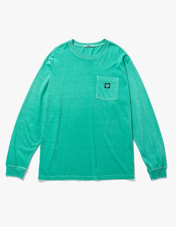Fuzz FUZZ PIGMENT DYED POCKET L/S TEE mint | HEIGHTS. | International Store