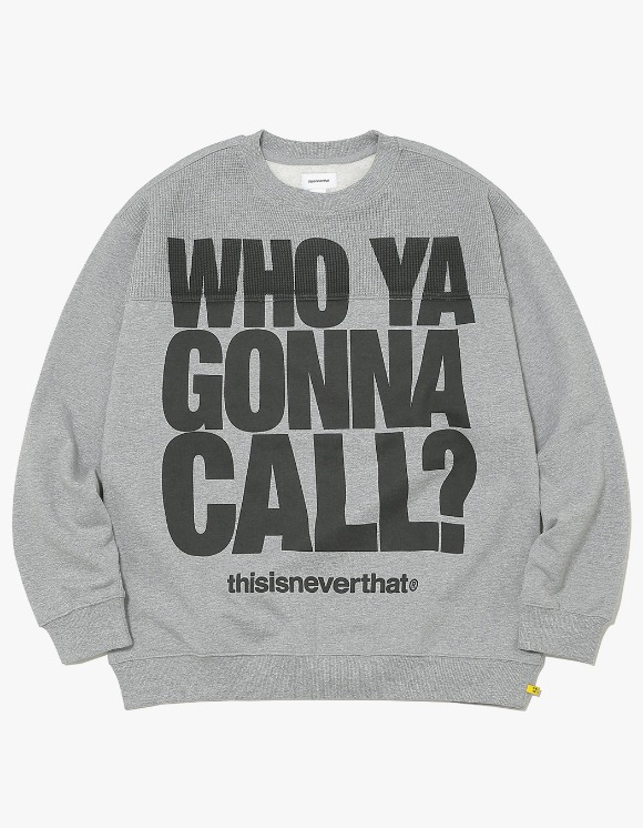 thisisneverthat WHO YA Crewneck - L.Grey | HEIGHTS. | International Store