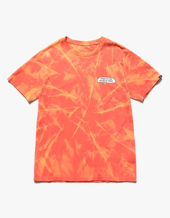 Vans HEIGHTS. X HOV Bleached S/S Tee - Orange | HEIGHTS. | International Store