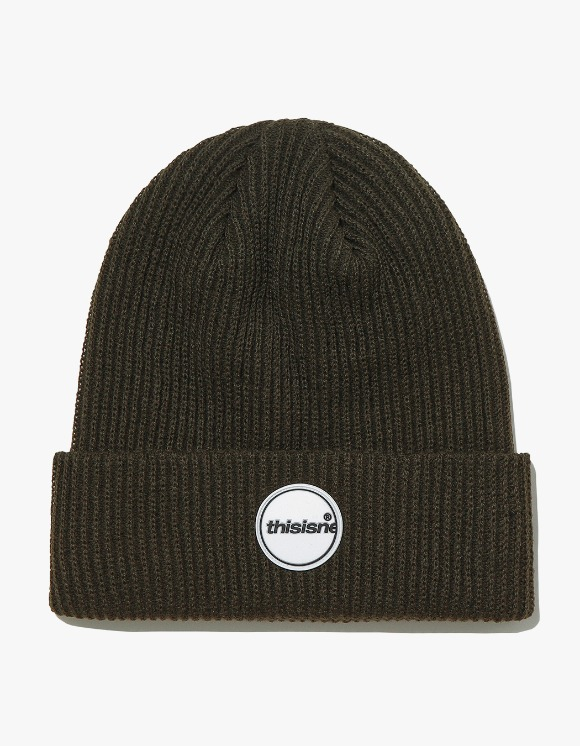 thisisneverthat Rubber C-Logo Short beanie - Olive | HEIGHTS. | International Store