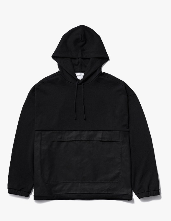 AECA WHITE Black Patch Oversize Hoodie - Black | HEIGHTS. | International Store