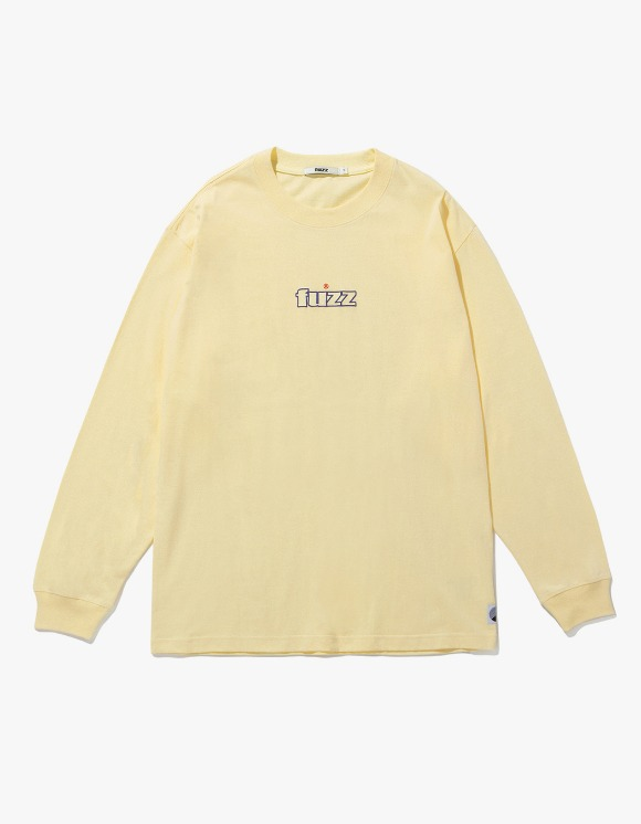 Fuzz FUZZ EMBO L/S TEE pale vanilla - Pale Vanilla | HEIGHTS. | International Store