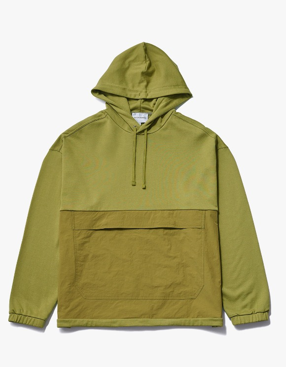 AECA WHITE Black Patch Oversize Hoodie - Olive | HEIGHTS. | International Store