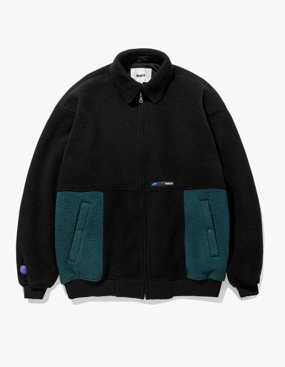 Fuzz FUZZ FLEECE HARRINGTON JACKET black | HEIGHTS. | International Store
