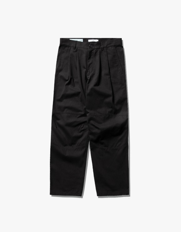 IZOLA NYC Wide Tuck Twill Pants - Black | HEIGHTS. | International Store