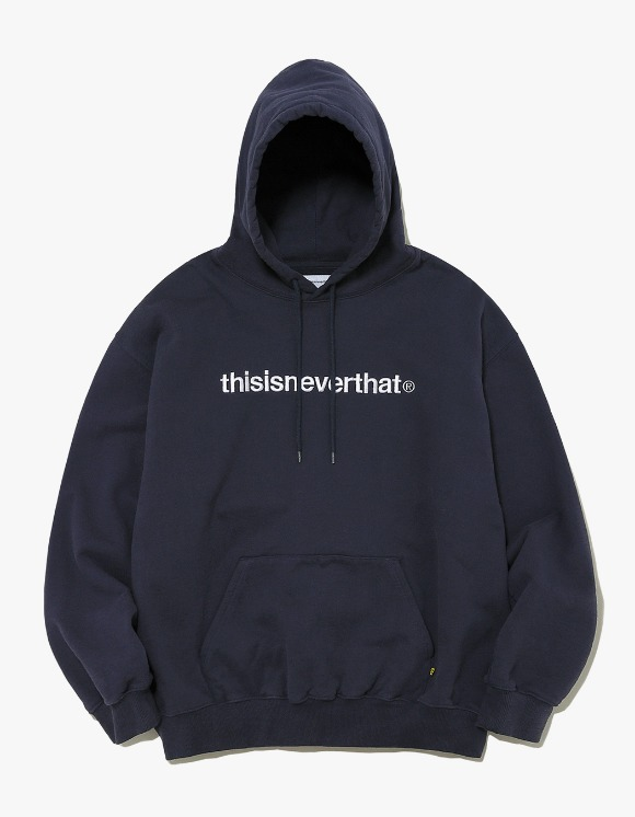 thisisneverthat T-Logo Hooded Sweatshirt - Navy | HEIGHTS. | International Store