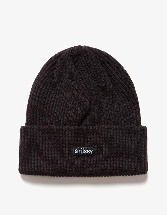 Stussy Small Patch Watch Cap Beanie - Black | HEIGHTS. | International Store