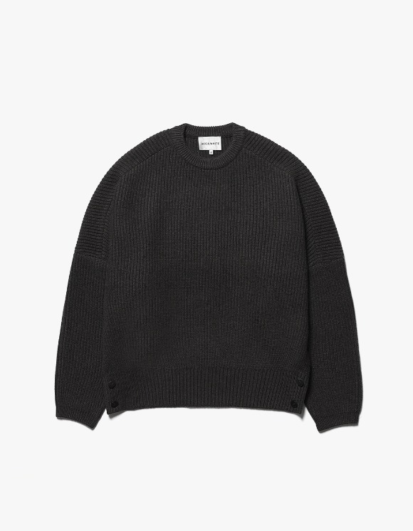 AECA WHITE Air Wool Oversize Knit - Charcoal | HEIGHTS. | International Store