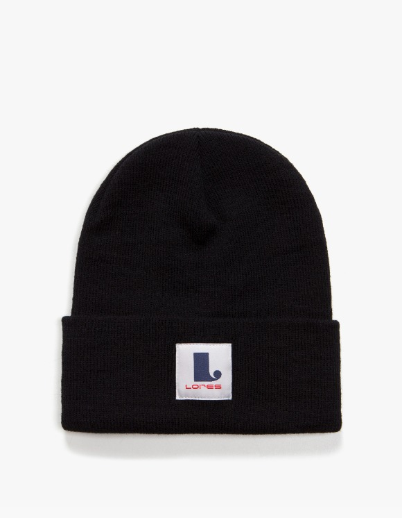 Lores Logo Patch Beanie - Black | HEIGHTS. | International Store