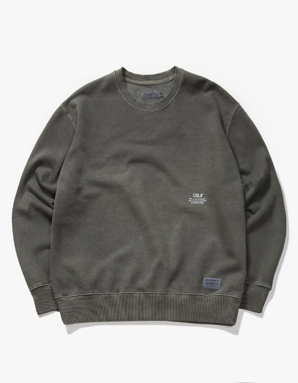 IZOLA NYC Over Dyed Crewneck - Charcoal | HEIGHTS. | International Store