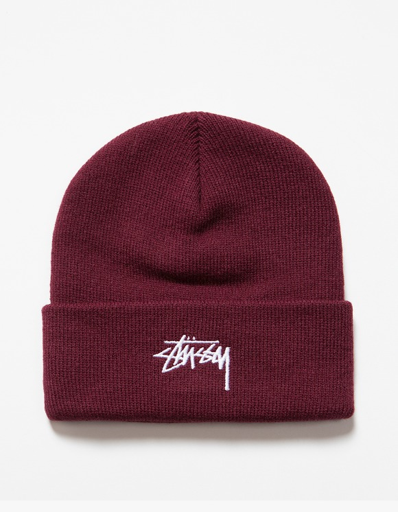 Stussy FA19 Stock Cuff Beanie - Burgundy | HEIGHTS. | International Store