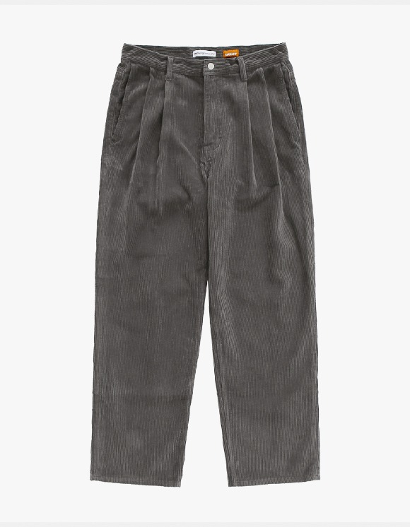 AYC Corduroy 2 Tuck Wide Pants Gray | HEIGHTS. | International Store