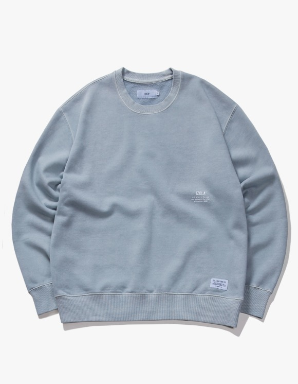 IZOLA NYC Over Dyed Crewneck - Powder Blue | HEIGHTS. | International Store