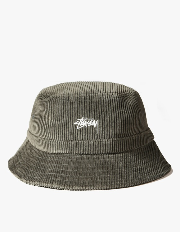Stussy Corduroy Bucket Hat - Olive | HEIGHTS. | International Store